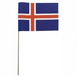 Flagga på träpinne, Island