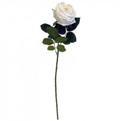 Ros på stjälk, vit, 60 cm, konstgjord blomma