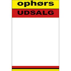 """Skilte """"Ophør"""" A6, 50 stk/pakke"""