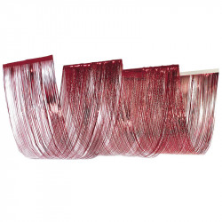 Böljande gardin med 3 valv i folie, behandlad med