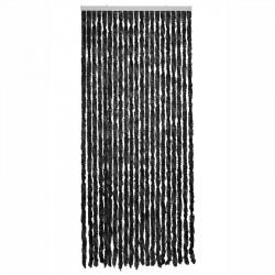Dörrgardin, Martinique, svart, 93x210cm