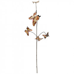 Fjärilar på gren, Brun, 5 st, Konstgjorda Djur