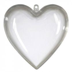 Hjärta i 2 delar, 6 cm