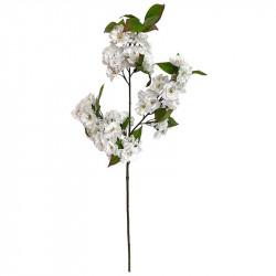 Äppelgren, vita blommor, 80 cm, konstgjord gren