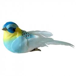 Fåglar med clips, ljusblåa, 10,5 cm, 3 st per förpackning.