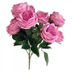 Rosbukett, 10 rosor, Rosa, 42cm, Konstgjord Blomma