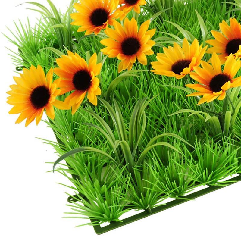 Åkande med blad, kunstig blomst