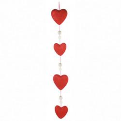 Hjerteranke med perler og glimmer