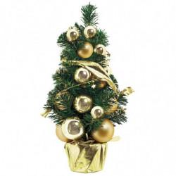 Juletræ med kugler og bånd