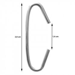 C-krog,3,9cm lang, Ø2mm