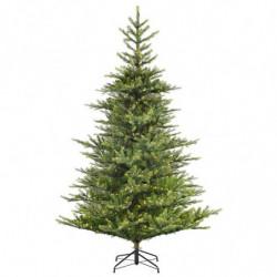 Grandis grantræ med LED lys og metalfod