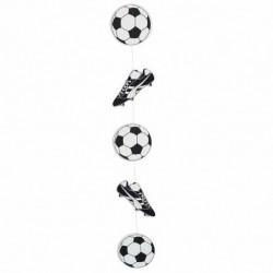Fodboldophæng med 3 bolde og 2 fodboldstøvler