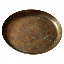Bakke i metal, 28cm, med kant