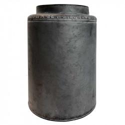 Vase i zink, cylinder, 37cm
