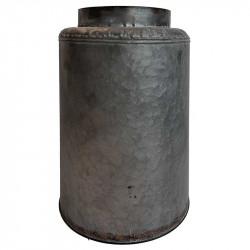 Vase i zink, cylinder 33,5cm