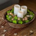 Krydderurt Persille i jute pose med ophæng, kunstig plante
