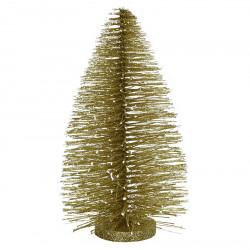 Juletræ i guld m glitter, 30cm, kunstig juletræ