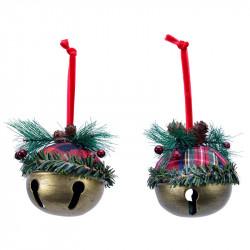 Juletræspynt, klokke m ophæng og pynt, assorteret