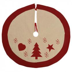 Juletræstæppe, rund, 90cm