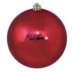 Julekugle, rød, 14cm