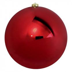 Julekugle, rød, 25cm, blank