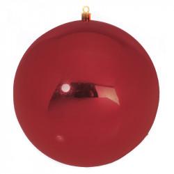 Julekugle, rød, 40cm, blank
