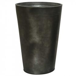 Zink krukke, rund, antik mørk grå, 56cm