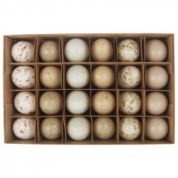 Dekoreret hønseæg, 6cm, 24 stk