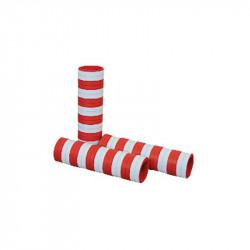 Serpentiner, 4 meter, rød/hvid