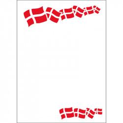 Skilte med flag A4, 50 stk/pakke