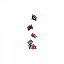 Flagranke, Sydafrika, 10 flag 4,5 m 20x27 cm