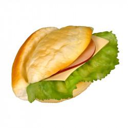 Sandwich med frikadelle pålæg,ost og salat, kunstig mad