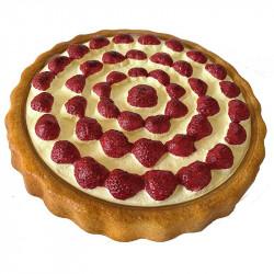 Jordbær tærte, 23cm, kunstig mad