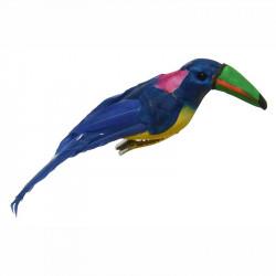 Tukan i styrophor /fjer, kunstig fugl