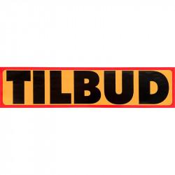"""Plakat """"Tilbud"""" med rød kant"""