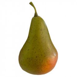 Pære, grøn/rød, 11cm, kunstig frugt