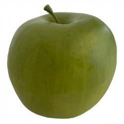 Æble, grøn, 9cm, kunstig frugt