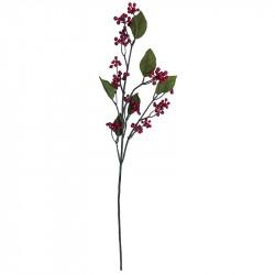 Brombær gren m røde bær, 77cm, kunstig gren