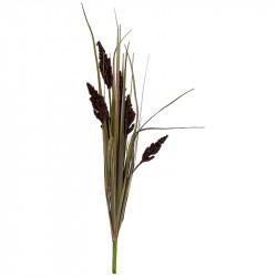 Pampas græs i bundt, lilla/grøn, 89cm, kunstig græs