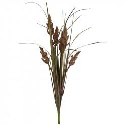 Pampas græs i bundt, brun/grøn, 89cm, kunstig græs