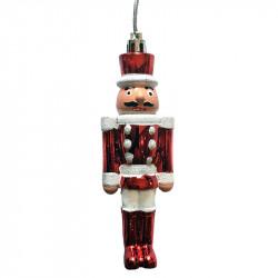 Nøddeknækker, rød/hvid, juletræsophæng