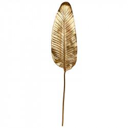 Bananblad i guld, 103cm, kunstig blade