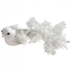 Fugl på klip, lang halefjer, 17cm, kunstig dyr
