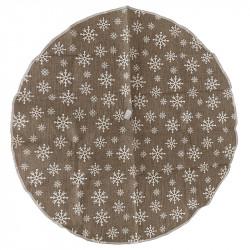 Juletræstæppe, rundt m snefnug