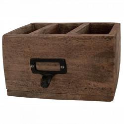 Opbevarings boks, 3 rum, træ