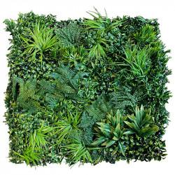 Bladmix plade, skovbund, UV, 100x100cm, kunstig plante