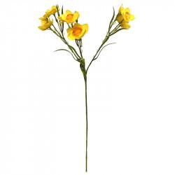 Påsklilja-gren, Gul, 72 cm, konstgjord blomma