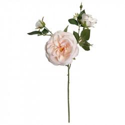 Rosenkvist m 3 blommor och två knoppar, cremefärgad,konstgj ord