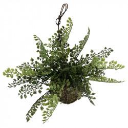 Hænge sukkulent m moskugle, kunstig plante