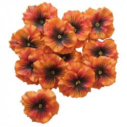 Stedmoderblomster hoveder i 12 stk/pose, kunstig blomst
